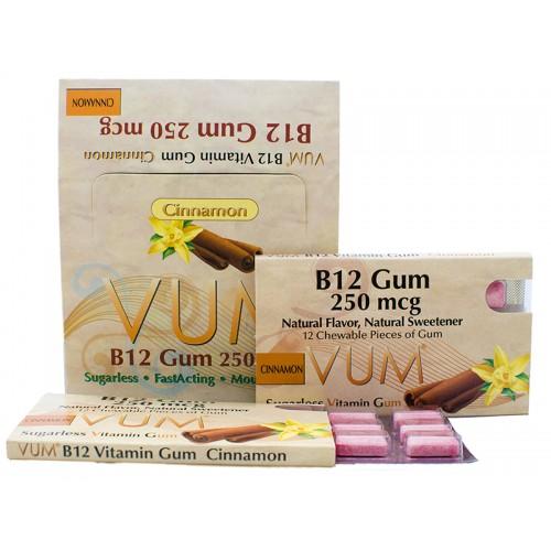 Vitamin B12 250 mcg (Cinnamon Flavor) | Sugarless Vitamin Gum