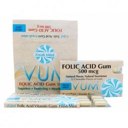 Folic Acid Gum 500mcg Mint