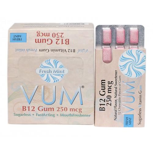Vitamin B12 250 mcg (Mint Flavor) | Sugarless Vitamin Gum